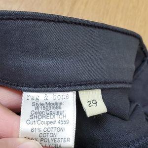 rag & bone Jeans - Rag & Bone Black Shortditch Pants